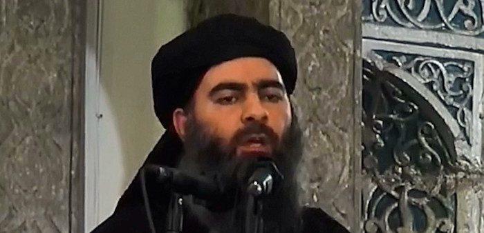 ISIS leader Abu Bakr Al-Baghdadi in Mosul, Iraq