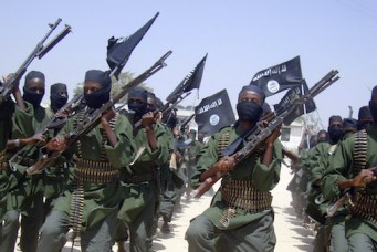 Al-Shabab fighters in Mogadishu, Somalia