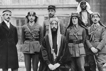 Emir Faisal of Mecca and his entourage at Paris Peace Conference