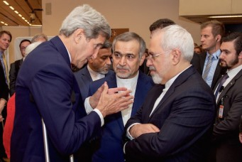 John Kerry and Mohammad Javad Zarif negotiate Iran nuclear deal