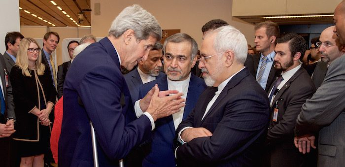 John Kerry and Mohammad Javad Zarif negotiate Iran nuclear deal