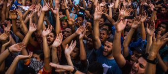 Egyptian Ultras football fans protest in Cairo