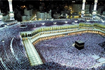 Pilgrims at the Grand Mosque, Mecca, Saudi Arabia. Kazuyoshi Nomachi/Corbis