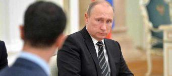 President Vladimir Putin meets with Syrian President Bashar Al-Assad, Moscow, Russia, Oct. 20, 2015. Demotix Live News/Demotix/Corbis