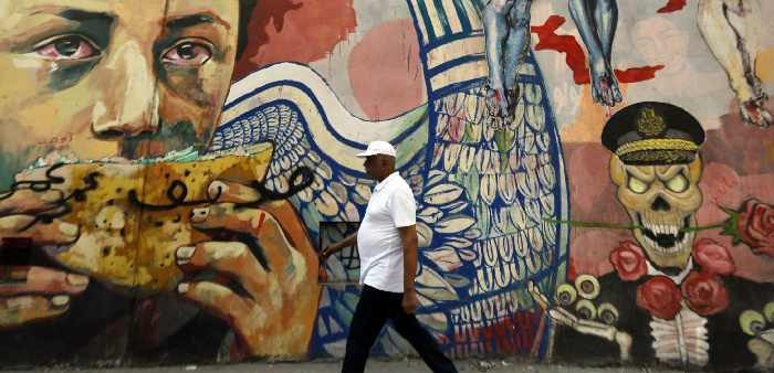 Graffiti near Tahrir Square in downtown Cairo, August 21, 2014. Amr Abdallah Dalsh/Reuters/Corbis