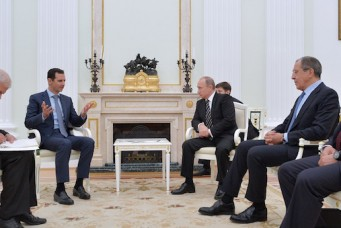 Presidents of Russia and Syria meet in Moscow
