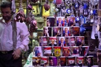 A souvenir shop in old Damascus, April 16, 2016. Hassan Ammar/AP