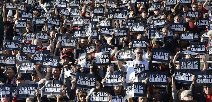 French demonstration after the terrorist attack on Charlie Hebdo magazine
