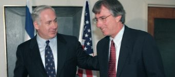 U.S. envoy Dennis Ross with Israeli Prime Minister Benjamin Netanyahu