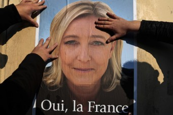 Campaign poster for National Front leader Marine Le Pen, Frejus, March 18, 2014. Eric Gaillard/Reuters