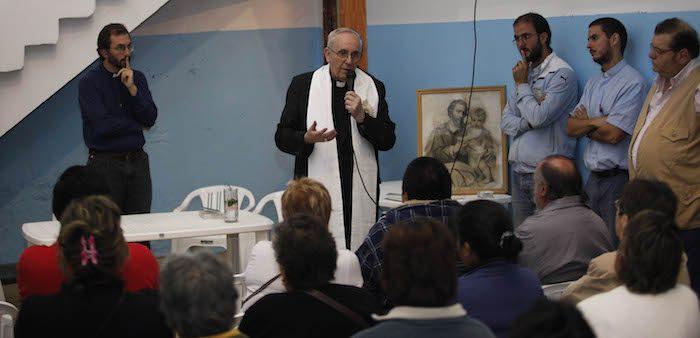 Jorge Bergoglio, then archbishop of Buenos Aires, at a drug rehabilitation center, Buenos Aires, 2011. Fernando Massobrio/GDA via Associated Press