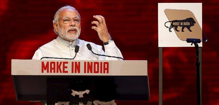 Prime Minister Narendra Modi at inauguration of the 'Make In India' week in Mumbai, India, Feb. 13, 2016. Danish Siddiqui/Reuters