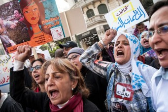 Demonstration on International Women's Day, Cairo, March 8, 2013. Romain Beurrier/Wostok Press/Newscom