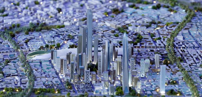 Scale model of proposed new Egyptian capital is displayed for investors, Sharm El- Sheikh, March 28, 2015. Amr Abdallah Dalsh/Reuters