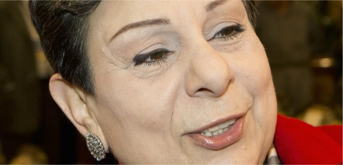 Palestinian legislator and activist Hanan Ashrawi, Kuwait City, Feb. 11, 2013. Stephanie Mcgehee/Reuters