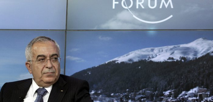 Then-Palestinian Prime Minister Salam Fayyad at the World Economic Forum (WEF) in Davos, Jan. 25, 2013. Denis Balibouse/Reuters