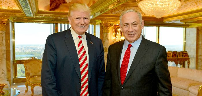 Israeli Prime Minister Benjamin Netanyahu and then-U.S. presidential candidate Donald Trump, New York, Sept. 25, 2016. Kobi Gideon/Government Press Office/via Reuters