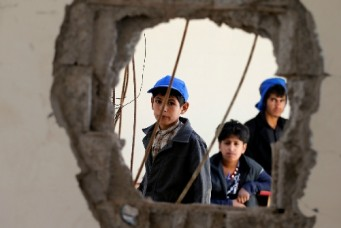 A school damaged by Saudi-led air strikes last year, Sanaa, Oct. 5, 2016. Khaled Abdullah/Reuters