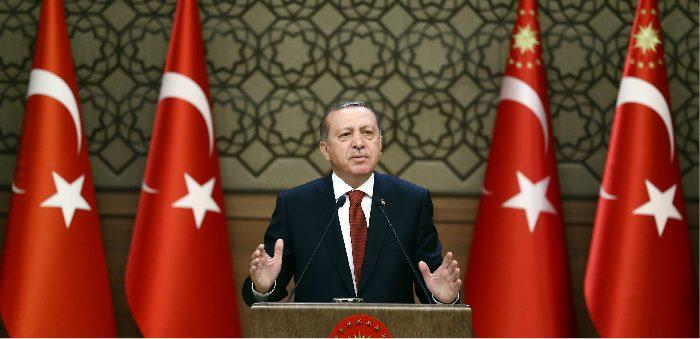 Turkish President Recep Tayyip Erdoğan, Presidential Palace, Ankara, Oct. 26, 2016. Yasin Bulbul/ Anadolu Agency