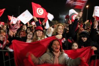 Tunisians rallying for Nidaa Tounes party, Tunis, Dec. 21, 2014. Anis Mili/Reuters