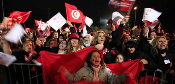 Tunisians rallying for Nidaa Tounes party, Tunis, Dec. 21, 2014. Anis Mili/Reuters