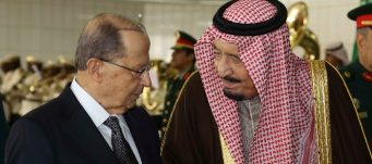 King Salman Bin Abdelaziz Al-Saud with President Michel Aoun in Riyadh, Jan. 10, 2017. Dalati Nohra/Reuters